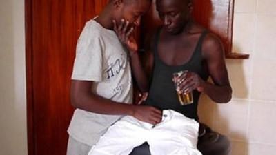 african hung  black gay  cock sucking